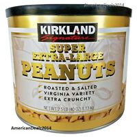 Kirkland Signature Super Extra Large Peanuts Roasted Salted Extra Crunchy 2.5 lb