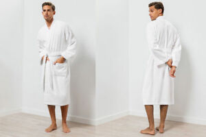 Bathrobe 100% Cotton Shawl Collar Robe Terry Cloth Available For Unisex
