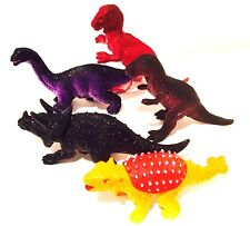 Pack Of 5 Fun Toy Dinosaurs plastic toy animal figures,