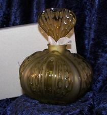 """Lalique """"Mirabel"""" Large Amber Perfume Bottle MIB (120800)"""