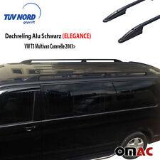 Dachreling Alu Schwarz VW T5 /T6 Multivan Caravelle 2003> Kurz mit TÜV / ABE