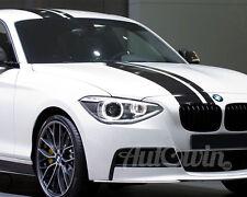 BMW 1 Series F20 F21 M PERFORMANCE BLACK STRIPES FOR HOOD ROOF TRUNK GENUINE NEW