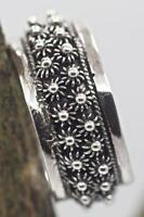 Handmade Bali Double Plumeria Oxidized Sterling Silver .925 Band Ring Sz 6,7,8,9