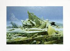 Caspar David Friedrich il Artico piccolo poster stampa d'arte immagine 30x40cm