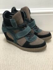 Ash Wedge High Top Trainers Shoes/Boots Brown Black Green Eur 41