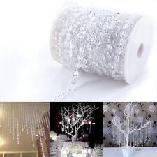 30 Meter Kristall Kette Vorhang Clear Hochzeit Party Wohnung Deko