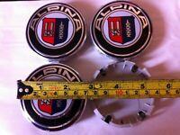 4pcs ALPINA BMW Alloy Wheel Centre Caps 68MM Blue - Fits E90 E46 E34 Z4 1 3 5 7