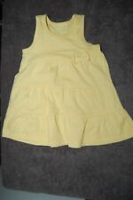 George Yellow Sleeveless Dress 100% Cotton Age 0-3 Months BNWOT