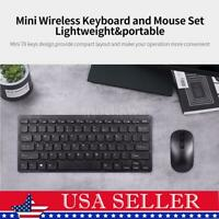 Wireless Slim Gaming Keyboard Mouse Combo Long Battery Life Slim Quiet Ergonomic