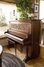 Hallet Davis 1892 Boston made classiic upright piano in excellent original shape