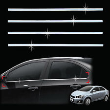 Chrome Door/Window Sill Belt Molding Trim Cover for 11+ Chevrolet Aveo/Sonic 4DR
