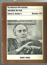 AFI Dialogue on Film RARE industry magazine 1973 Henry Fonda Grapes of Wrath