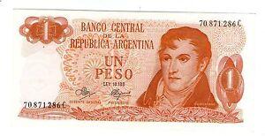 ARGENTINA NOTE 1972 1 PESO LEY 18.188 Series C -  P#287 - B#2309