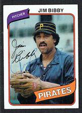 Jim Bibby #229 signed autograph auto 1980 Topps Baseball Trading Card