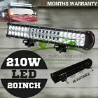 Cree LED Light Bar 20inch 210W Spot Flood Combo Offroad Work SUV 4WD Lamp