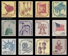 1613-19 & 1811-16 1816 Americana Coils 1975-81 Complete Set of 12 MNH - Buy Now