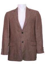 Mens John W Nordstrom Linen Sport Coat (Size 40R) Brown B1377