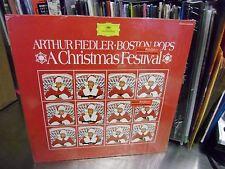 Arthur Fiedler A Christmas Festival vinyl LP 1970 Deutsche Records IN Shrink EX