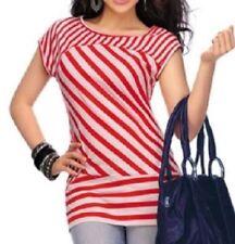 Summer/Beach Striped Petite Tops & Blouses for Women