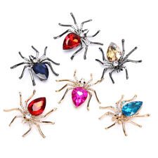 Fashion Lady Crystal Spider Pins Brooches Decoration Corsage BadgeJewelryGifts3C