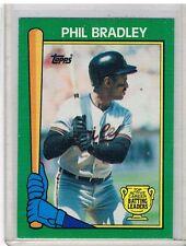 1990 Topps Batting Leaders Green SCARCE INSERT #20/22 PHIL BRADLEY O's NRMT