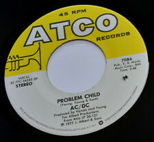 """AC/DC - Problem Child / Let There Be Rock - USA Atco Vinyl 7"""" - Hard Rock - 1977"""
