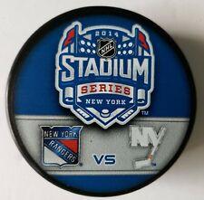 2014 Stadium Series New York Rangers Islanders Yankee Stadium Nhl Puck + Cube