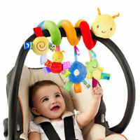 Baby Crib Cot Pram Hanging Rattles Spiral Stroller Seat Toy with Ringing Bell