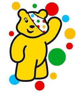 pudsey spots children in need charity iron on t shirt transfer A5