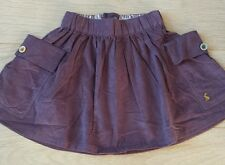 LITTLE JOULES GIRLS AGE 4 YEARS velvet satin SKIRT. Bordeaux colour. BRAND NEW