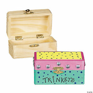 Do It Yourself  5 Unfinished Wood Hinged Boxes - Crafter -  Trinkets - Jewelry