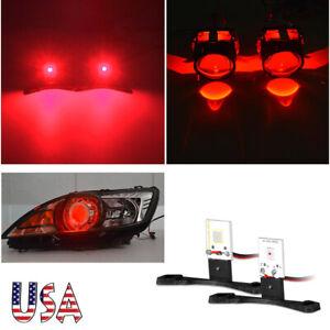 "2.5"" Red Devil Eye Demon Eyes For Bi-xenon HID Mini Projector Lens Headlight US"