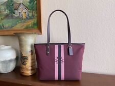 COACH City Horse and Carriage jacquard Zip Tote Bag 69645