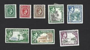 JAMAICA 1938 GEORGE VI, 8 DIFFERENT PICTORIAL STAMPS TO 6d, CAT £20+, MH