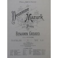 GODARD Benjamin Mazurk No 2 Piano ca1880 partition sheet music score
