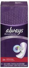 Always Dri-Liners Pantiliners Unscented For Sizes 14 Plus 34 Each (Pack of 8)