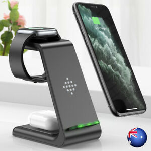 3 in 1 Wireless Charger Dock Charging Station For Apple Watch iPhone 12 11 XS 8+