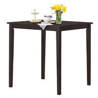 """Square Dining Table w/Rubber Wood Legs 35.5"""" L x 35.5"""" W x 36"""" Kitchen Furniture"""