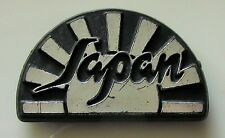 JAPAN OLD PLASTIC PIN BADGE FROM THE 1980's BLACK SILVER SYLVIAN KARN BARBIERI