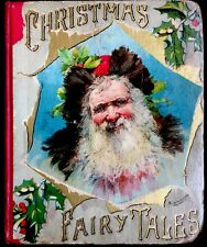 CHRISTMAS FAIRY TALES ~ Antique 1890's Victorian Children's Poem & Story Book