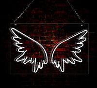 Angel Wings Beer Decor Real Gl Art Bar Poster Neon Light Sign