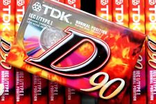 TDK D 90 NORMAL POSITION TYPE I BLANK AUDIO CASSETTE TAPE - 1997