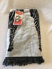 "Opalhouse XL Reversable Beach Towel Black/White Zebra 36""x72"""