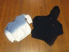 Girls' Lot of 2 Polo Ralph Lauren Blue White Sweatshirt Hoodie sz 3 3T