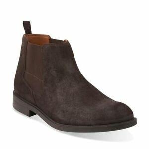 Clarks Chilver Top Dark Brown Suede Men's Boots Size UK 9 1/2G