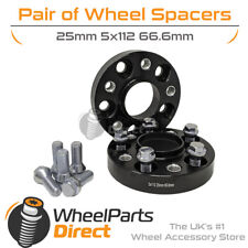 Bolt-On Wheel Spacers (2) 5x112 66.6 25mm for SsangYong Istana 95-05