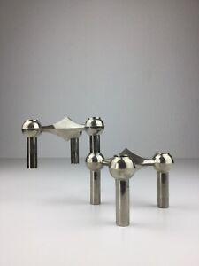 2 Nagel QUIST BMF Kerzenständer Kerzenhalter Stecksystem 70er Jahre Design