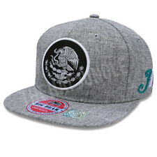 Mexico Snapback Hat Mexican Federal Logo Round Patch Flat Bill Baseball Cap