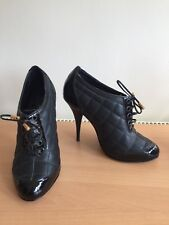 Jaeger Quilted  Black Ankle Boots, Size 38, Uk 5 Gorgeous!