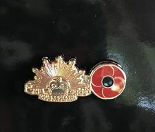 Army Poppy Lapel Pin *Remembrance Day * ANZAC Day*NEW 25mm